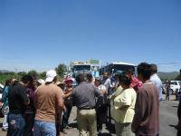 Protestan con bloqueo contra Viaducto Interlomas